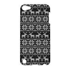 Xmas Pattern Apple Ipod Touch 5 Hardshell Case by Valentinaart