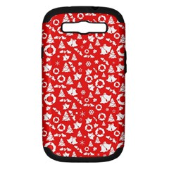 Xmas Pattern Samsung Galaxy S Iii Hardshell Case (pc+silicone) by Valentinaart
