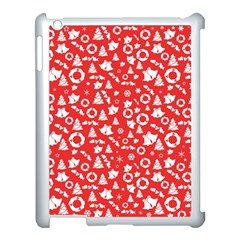 Xmas Pattern Apple Ipad 3/4 Case (white) by Valentinaart