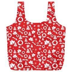 Xmas Pattern Full Print Recycle Bags (l)  by Valentinaart