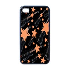 Guitar Star Rain Apple Iphone 4 Case (black) by SpaceyQT
