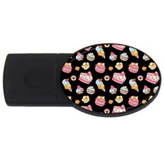 Sweet Pattern Usb Flash Drive Oval (2 Gb) by Valentinaart