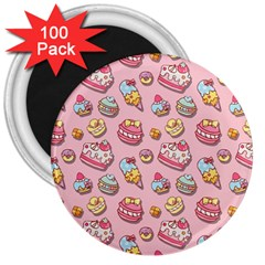 Sweet Pattern 3  Magnets (100 Pack) by Valentinaart