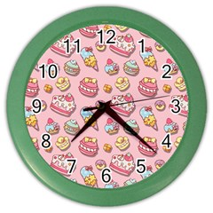 Sweet Pattern Color Wall Clocks by Valentinaart