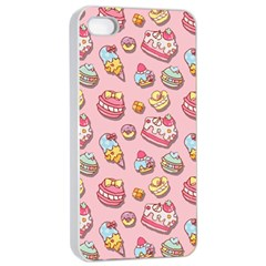 Sweet Pattern Apple Iphone 4/4s Seamless Case (white) by Valentinaart
