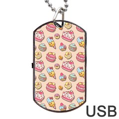Sweet Pattern Dog Tag Usb Flash (two Sides)