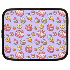 Sweet Pattern Netbook Case (large) by Valentinaart