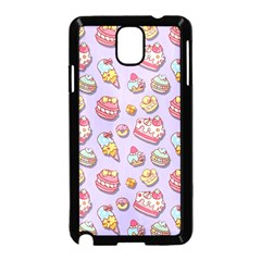 Sweet Pattern Samsung Galaxy Note 3 Neo Hardshell Case (black) by Valentinaart