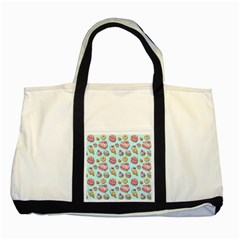 Sweet Pattern Two Tone Tote Bag by Valentinaart
