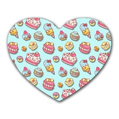 Sweet Pattern Heart Mousepads by Valentinaart
