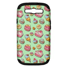 Sweet Pattern Samsung Galaxy S Iii Hardshell Case (pc+silicone)