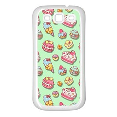 Sweet Pattern Samsung Galaxy S3 Back Case (white) by Valentinaart