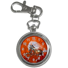 Steampunk, Wonderful Wild Steampunk Horse Key Chain Watches by FantasyWorld7