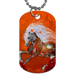 Steampunk, Wonderful Wild Steampunk Horse Dog Tag (one Side) by FantasyWorld7