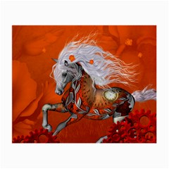 Steampunk, Wonderful Wild Steampunk Horse Small Glasses Cloth (2 Side) by FantasyWorld7