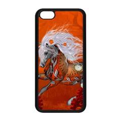 Steampunk, Wonderful Wild Steampunk Horse Apple Iphone 5c Seamless Case (black) by FantasyWorld7