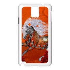 Steampunk, Wonderful Wild Steampunk Horse Samsung Galaxy Note 3 N9005 Case (white) by FantasyWorld7
