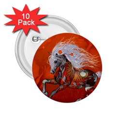 Steampunk, Wonderful Wild Steampunk Horse 2 25  Buttons (10 Pack)  by FantasyWorld7