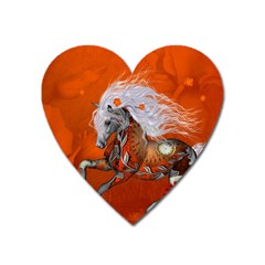 Steampunk, Wonderful Wild Steampunk Horse Heart Magnet by FantasyWorld7