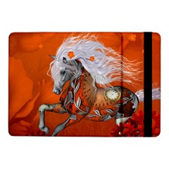 Steampunk, Wonderful Wild Steampunk Horse Samsung Galaxy Tab Pro 10 1  Flip Case by FantasyWorld7