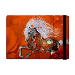 Steampunk, Wonderful Wild Steampunk Horse Ipad Mini 2 Flip Cases by FantasyWorld7
