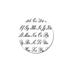 Alphabet Embassy Font Golf Ball Marker (4 Pack) by Mariart