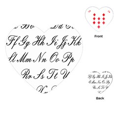 Alphabet Embassy Font Playing Cards (heart)  by Mariart