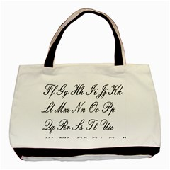 Alphabet Embassy Font Basic Tote Bag (two Sides) by Mariart