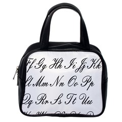 Alphabet Embassy Font Classic Handbags (one Side) by Mariart