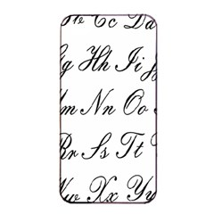 Alphabet Embassy Font Apple Iphone 4/4s Seamless Case (black) by Mariart