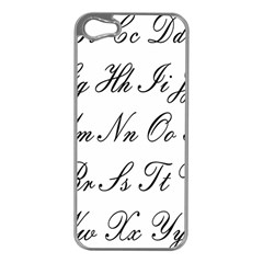 Alphabet Embassy Font Apple Iphone 5 Case (silver) by Mariart