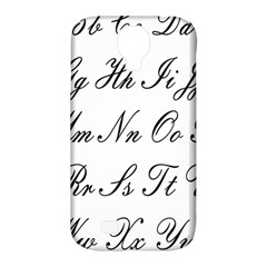 Alphabet Embassy Font Samsung Galaxy S4 Classic Hardshell Case (pc+silicone) by Mariart