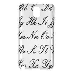 Alphabet Embassy Font Samsung Galaxy Note 3 N9005 Hardshell Case by Mariart