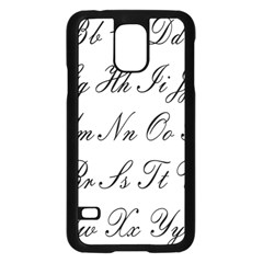 Alphabet Embassy Font Samsung Galaxy S5 Case (black) by Mariart