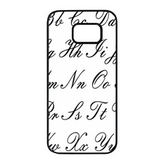 Alphabet Embassy Font Samsung Galaxy S7 Edge Black Seamless Case by Mariart
