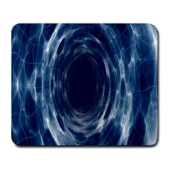 Worm Hole Line Space Blue Large Mousepads by Mariart