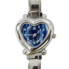 Worm Hole Line Space Blue Heart Italian Charm Watch by Mariart