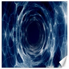 Worm Hole Line Space Blue Canvas 20  X 20   by Mariart