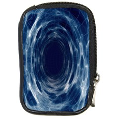Worm Hole Line Space Blue Compact Camera Cases by Mariart