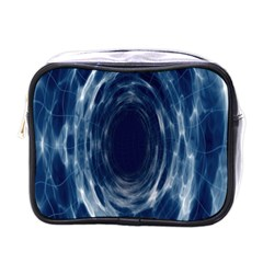 Worm Hole Line Space Blue Mini Toiletries Bags by Mariart