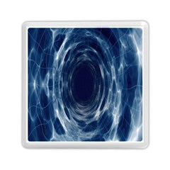Worm Hole Line Space Blue Memory Card Reader (square)  by Mariart