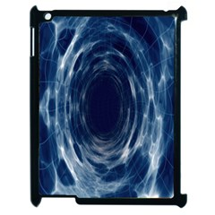 Worm Hole Line Space Blue Apple Ipad 2 Case (black) by Mariart