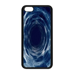 Worm Hole Line Space Blue Apple Iphone 5c Seamless Case (black) by Mariart