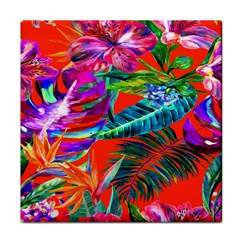 Aloha Hawaiian Flower Floral Sexy Summer Orange Tile Coasters