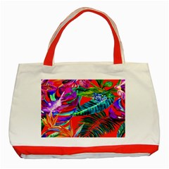 Aloha Hawaiian Flower Floral Sexy Summer Orange Classic Tote Bag (red) by Mariart