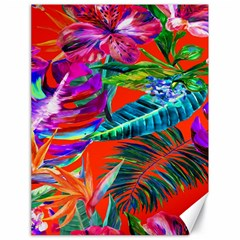 Aloha Hawaiian Flower Floral Sexy Summer Orange Canvas 18  X 24   by Mariart