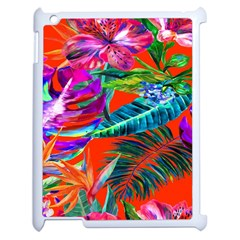 Aloha Hawaiian Flower Floral Sexy Summer Orange Apple Ipad 2 Case (white) by Mariart