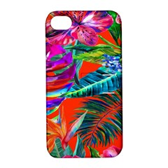 Aloha Hawaiian Flower Floral Sexy Summer Orange Apple Iphone 4/4s Hardshell Case With Stand by Mariart