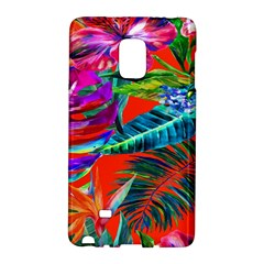 Aloha Hawaiian Flower Floral Sexy Summer Orange Galaxy Note Edge by Mariart