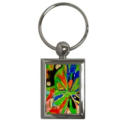 Acrobat Wormhole Transmitter Monument Socialist Reality Rainbow Key Chains (rectangle)  by Mariart
